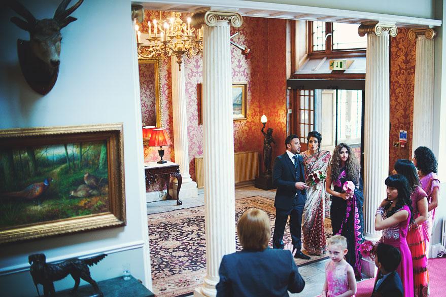 wedding in melville castle edinburgh