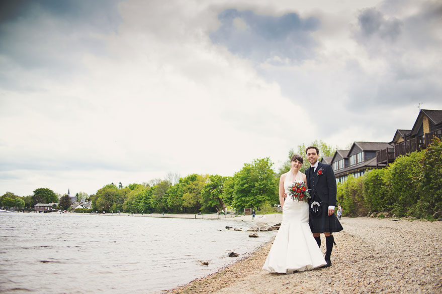 wedding lodge on loch lomond
