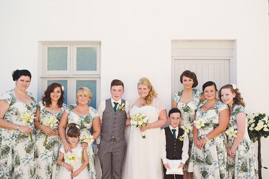 bridal aprty photograph
