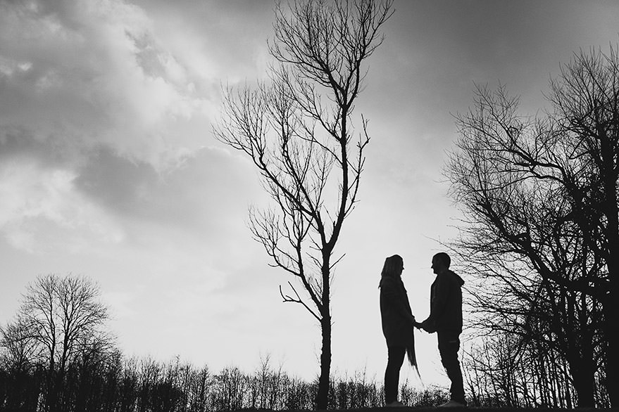 liana and eric - engagement session in glasgow