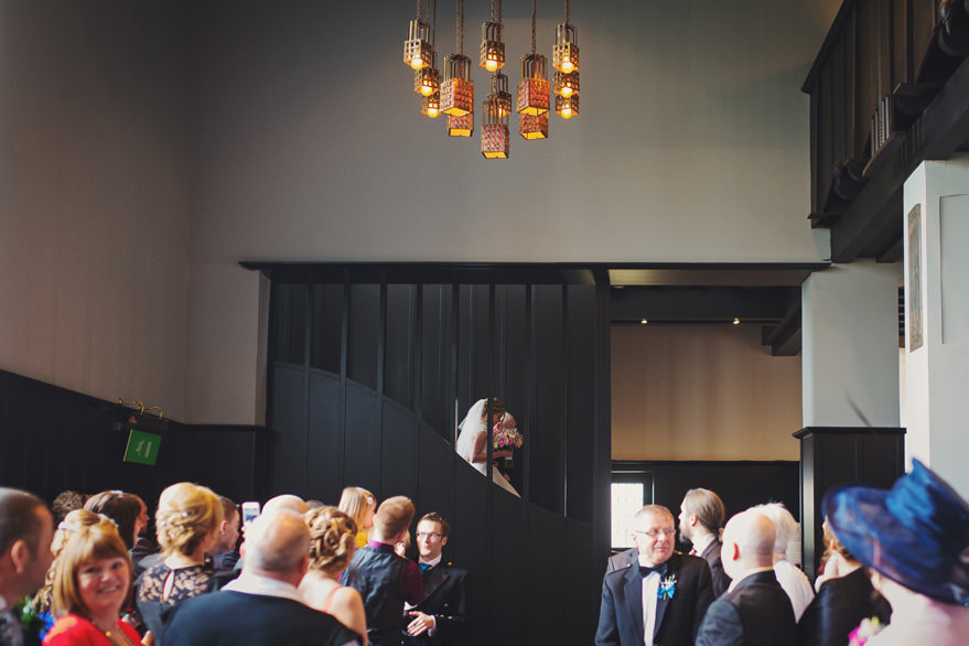house for an art lover wedding room