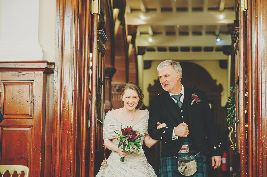bride entering burgh hall
