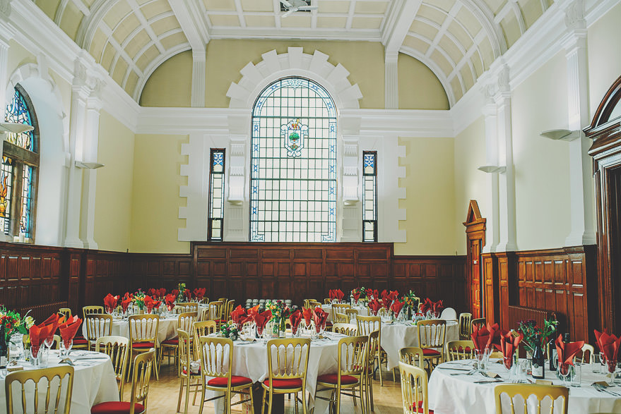 burgh hall wedding decorations