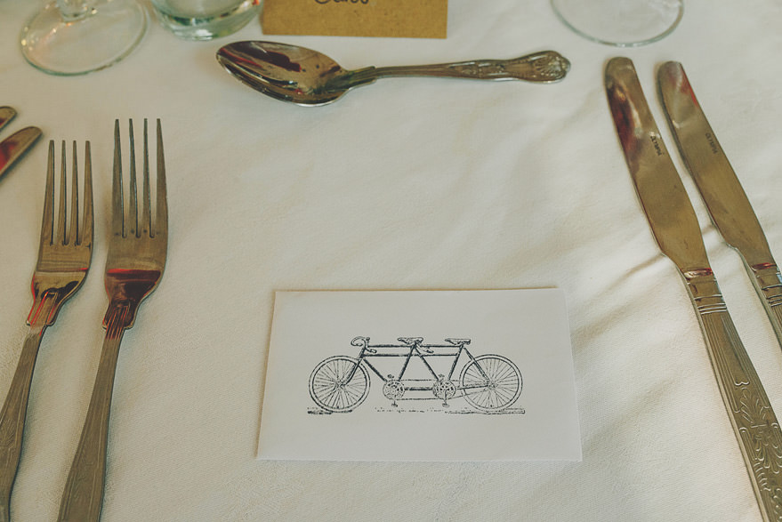 bike theme wedding