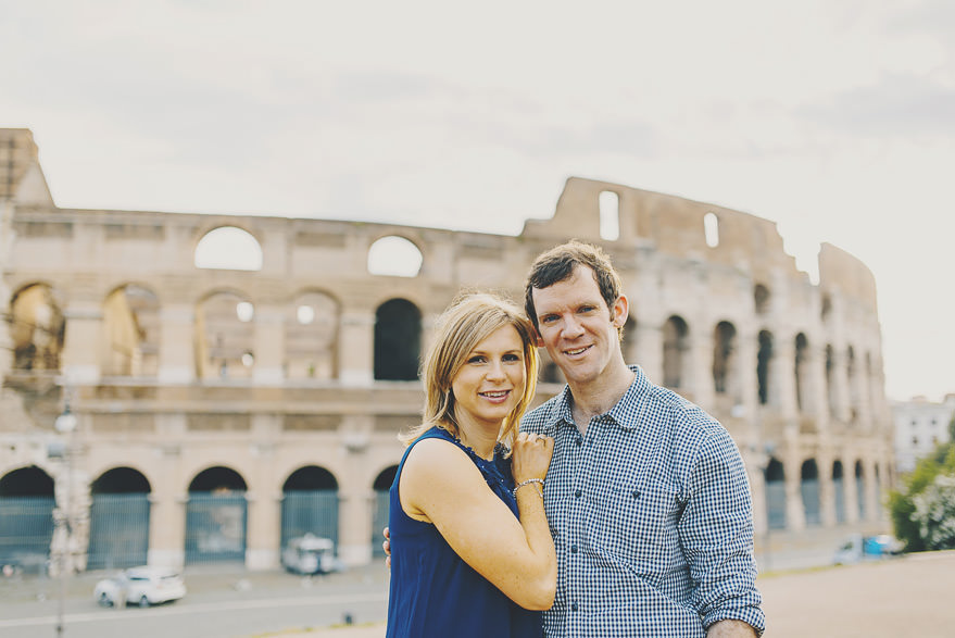 rome engagement photography