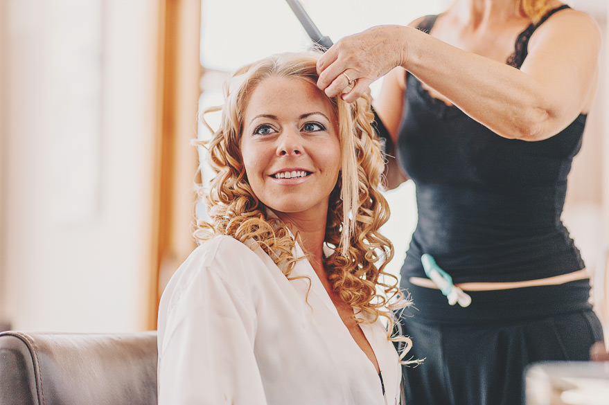 bride preparations at yacht club cala'or