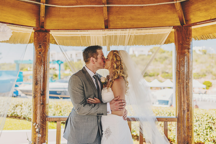 frist kiss yacht club mallorca wedding