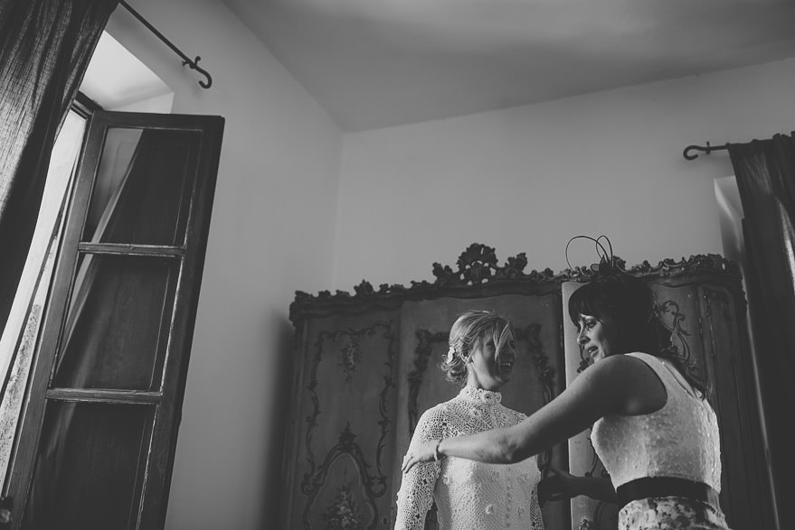 bridal preparations in borgo di tragliata