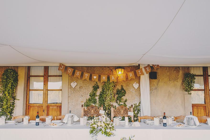 borgo di tragliata table decorations
