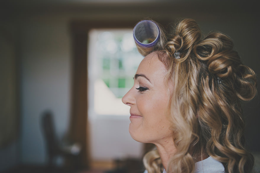 bride getting ready at dell of abernethy