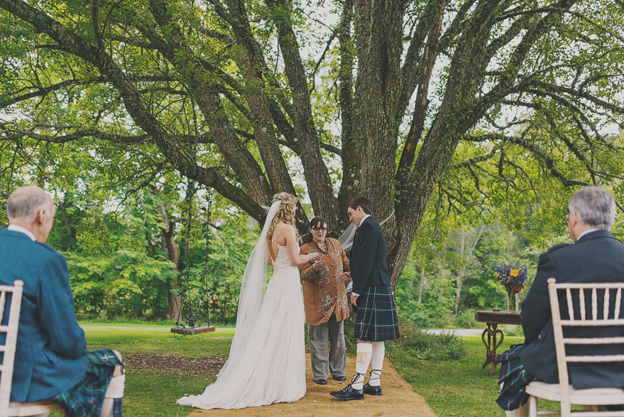 outdoor wedding in scotland