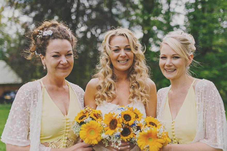 yellow bridesmaids dress