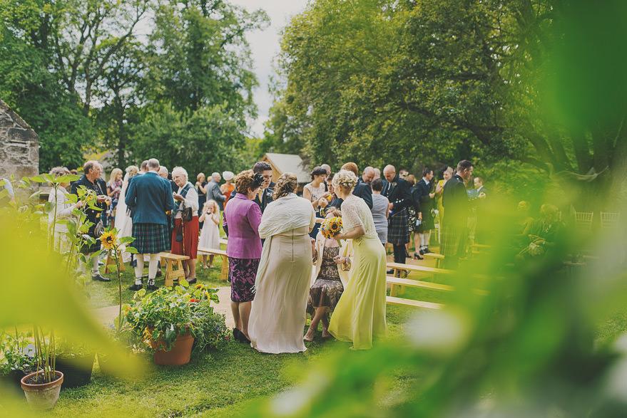 outdoor wedding ceremony in scotland