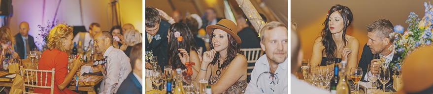 guest enjoying tipi wedding