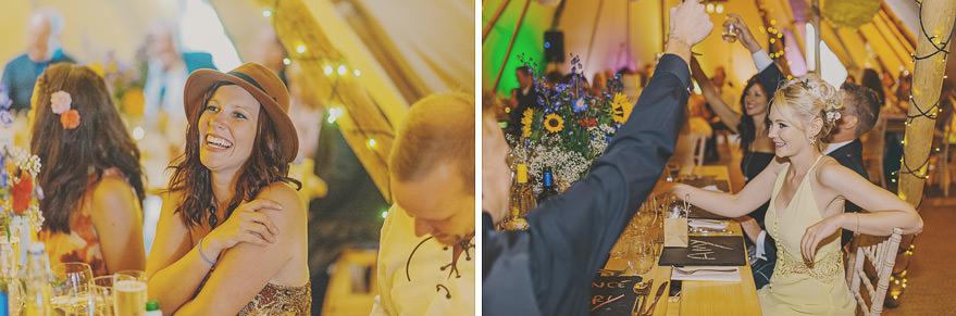 wedding speeches inside the tipi