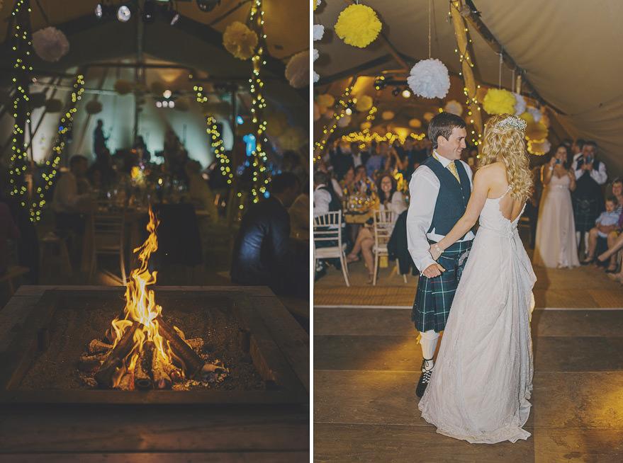 first dance tipi wedding