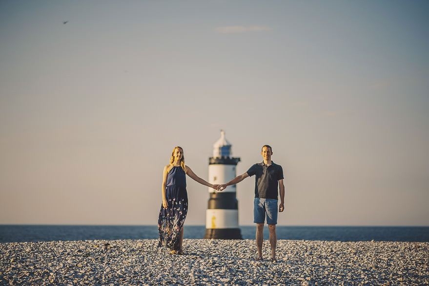 Trwyn Du Lighthouse engagement session