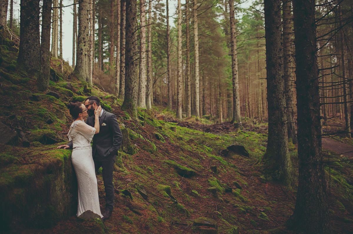 forest wedding in scotland