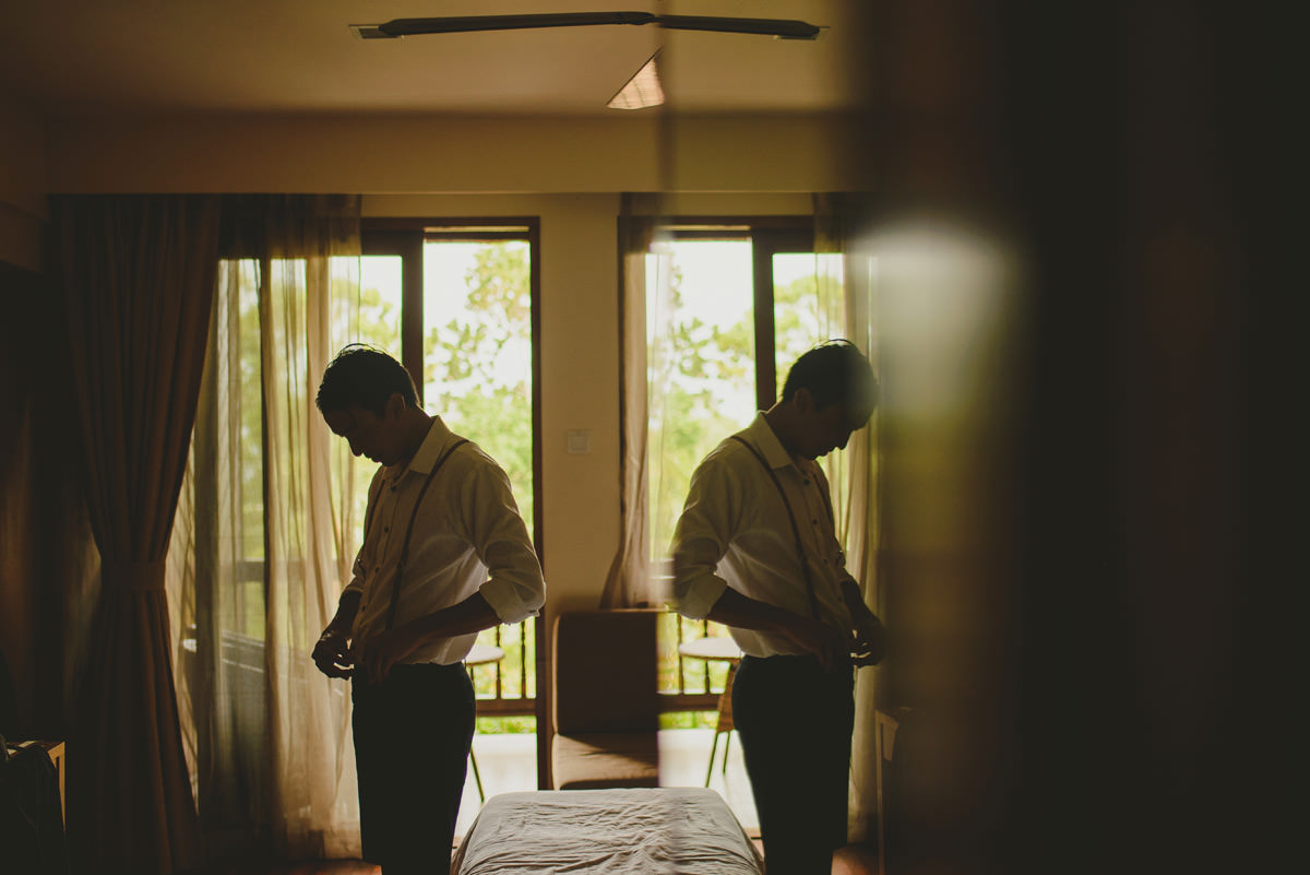 groom getting ready at berjaya