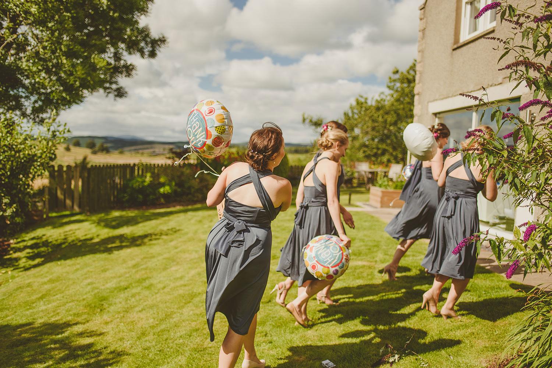 bridesmaids getting ready glen tanar
