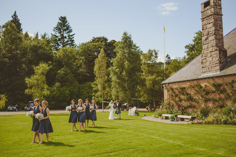wedding party at glen tanr