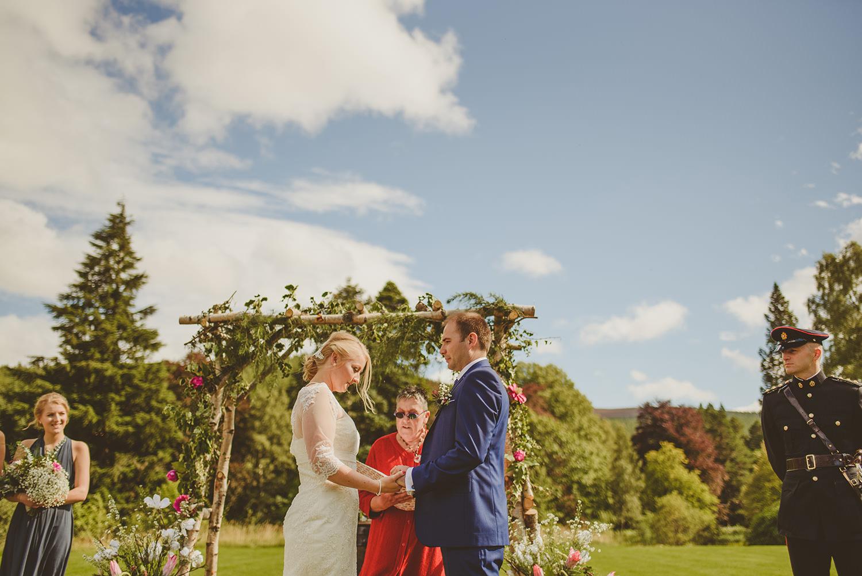 outdoor wedding scotland