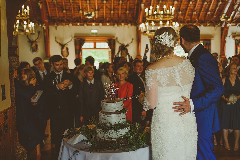 cutting the cake at glen tanar