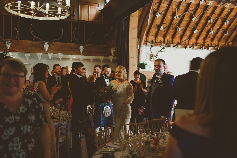 glen tanar wedding party