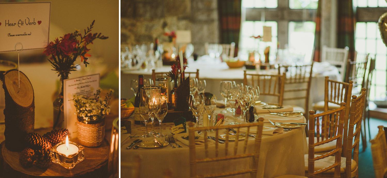 glen tanar table decorations