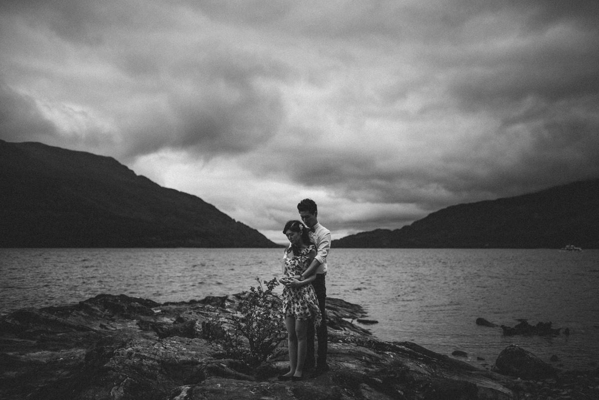 glencoe engagment session