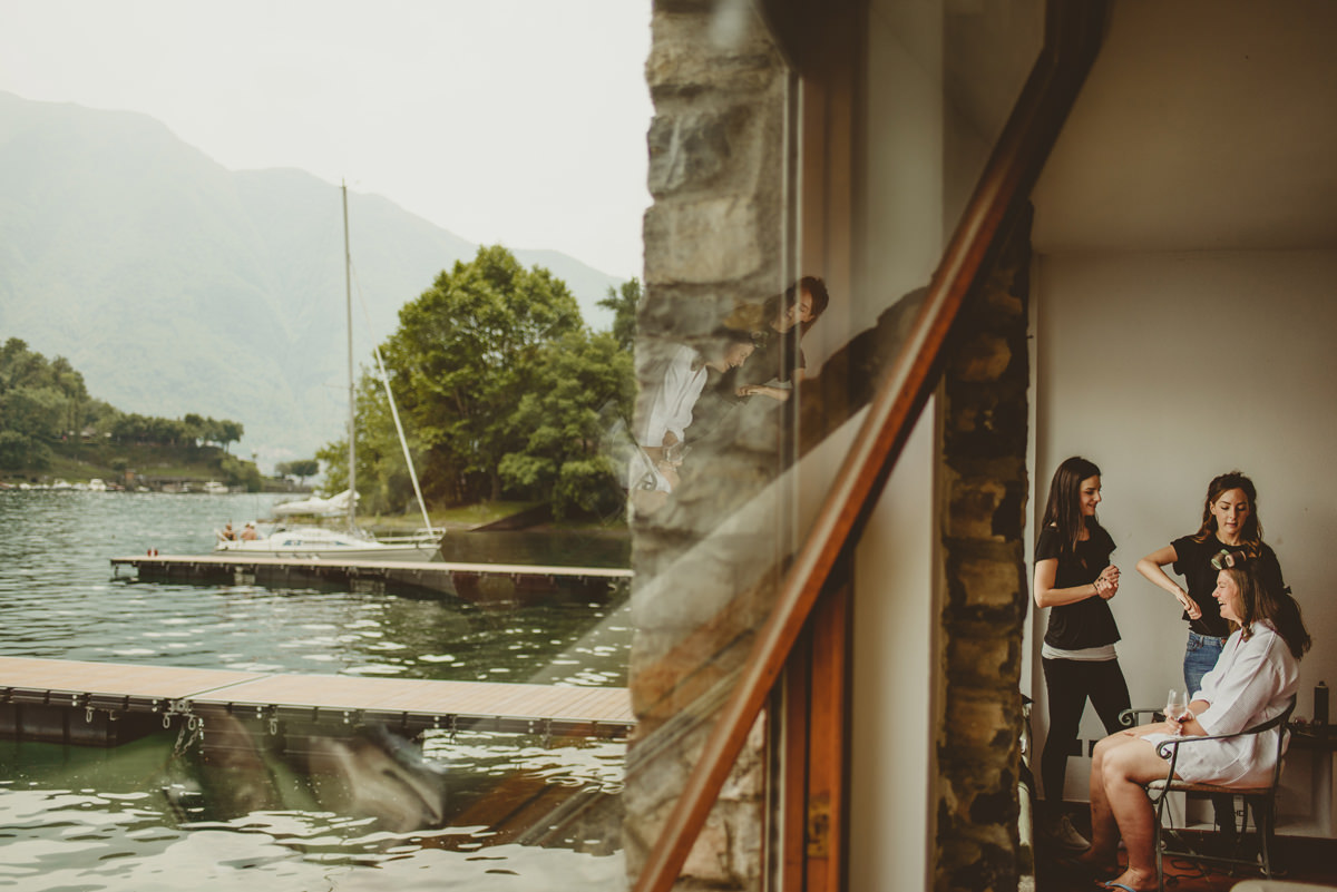 bridal preparations for wedding in lake como