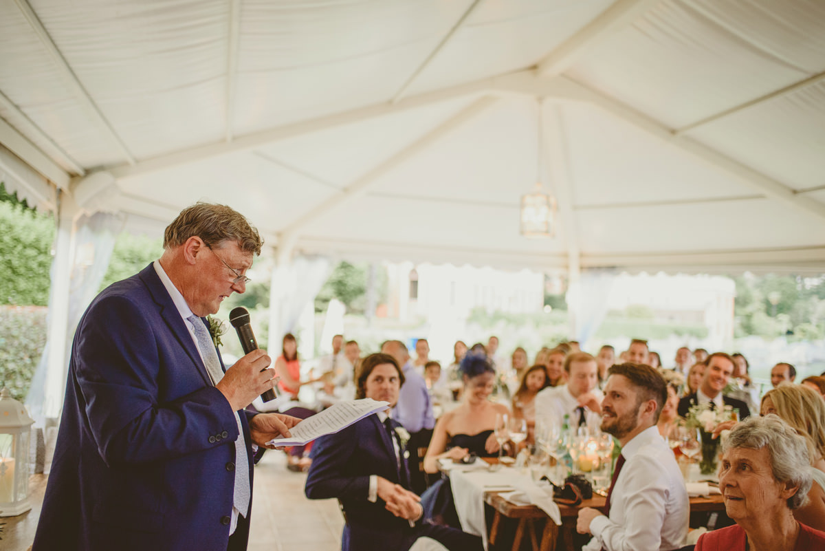 father speech wedding italy