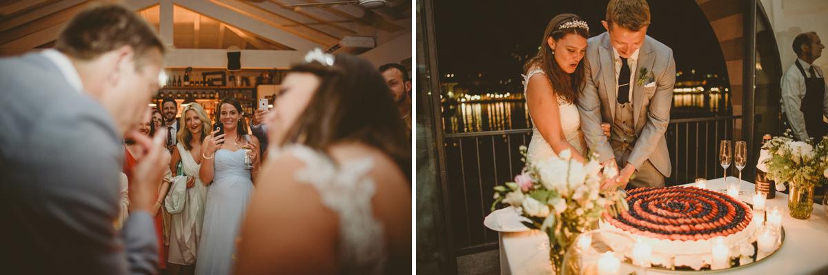 lake como wedding cake