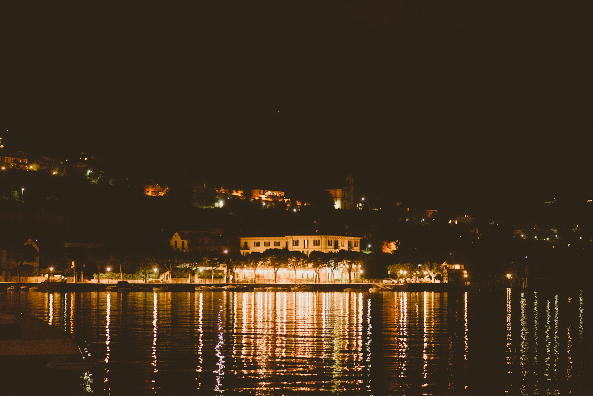 lake como at night