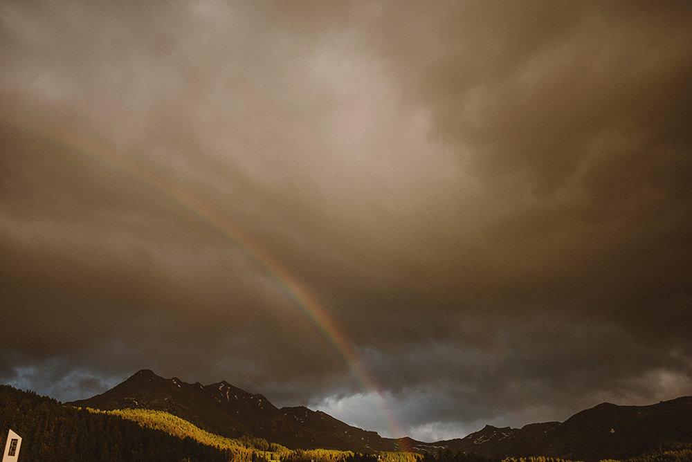 rainbow in italy