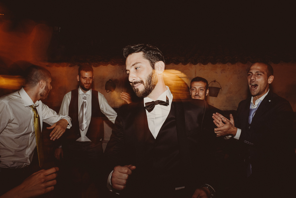 wild party at the wedding in sardinia