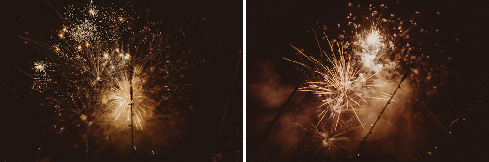 fireworks at the wedding in Cagliari