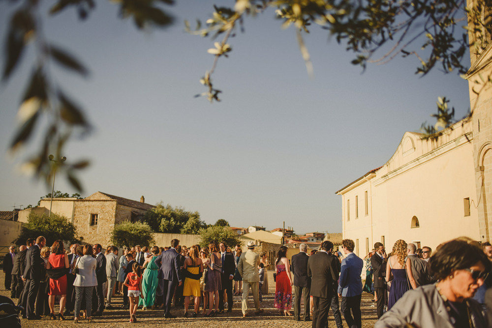 guests outside a wedding in italy