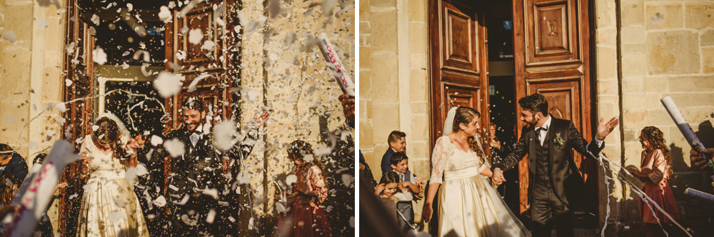 confetti shot at the wedding in italy