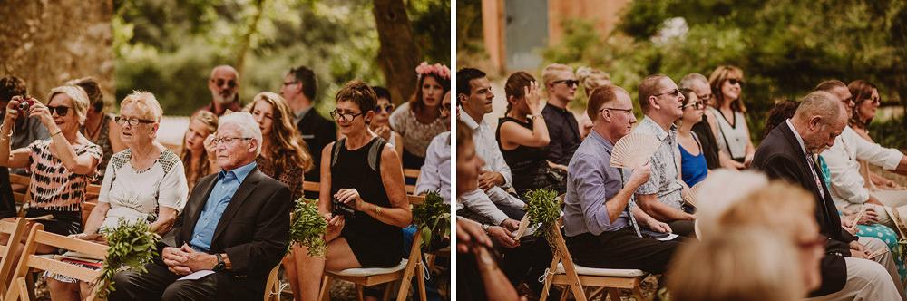 outdoor wedding in girona