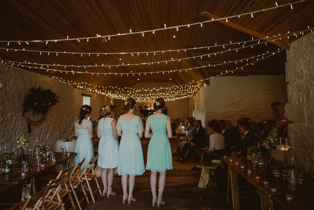 wedding ceremony at dalduff farm