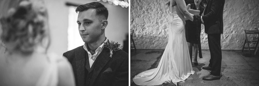 bride and groom at dalduff farm