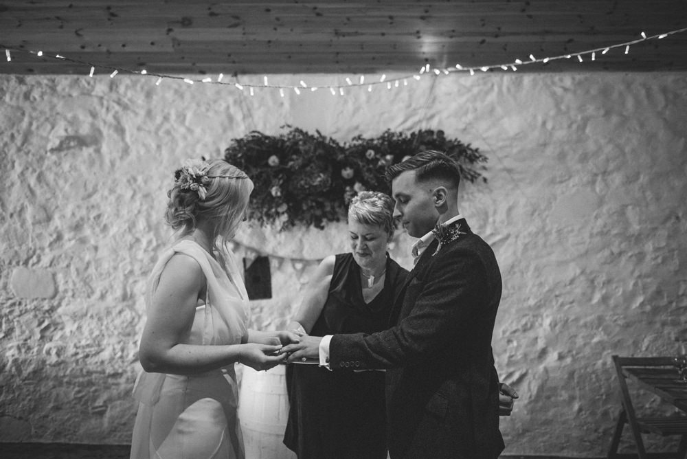 bride and groom at dalduff farm