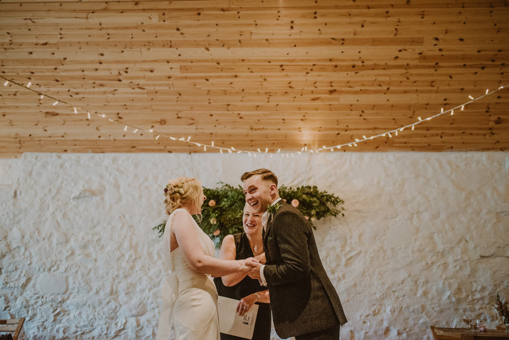indoor wedding at dalduff farm