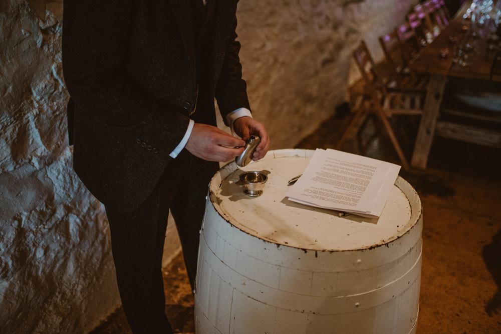 indoor wedding at dalduff farm