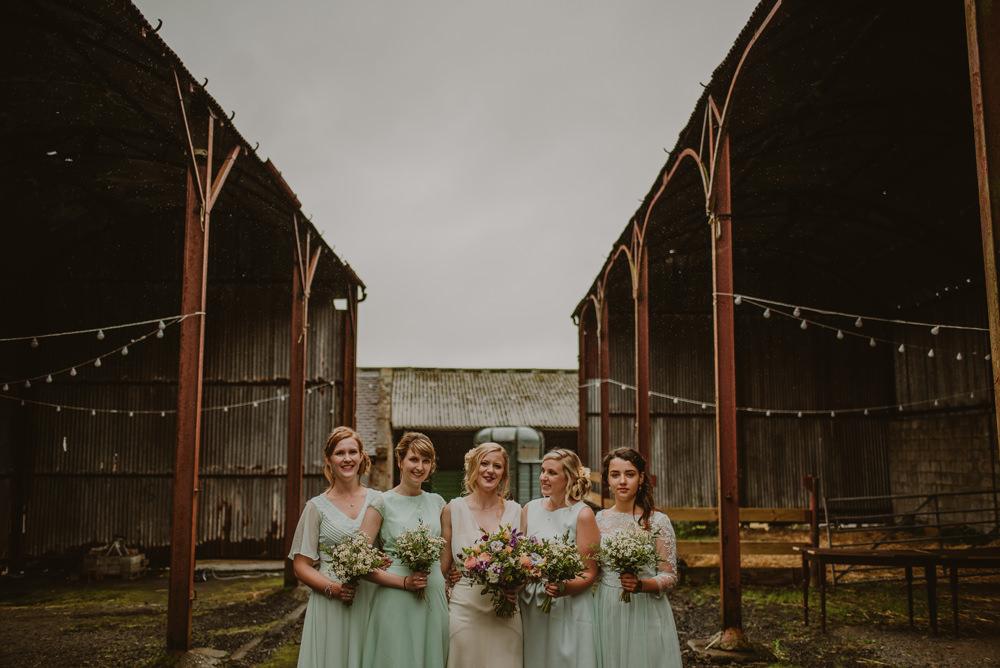 bridesmaids at dalduff farm