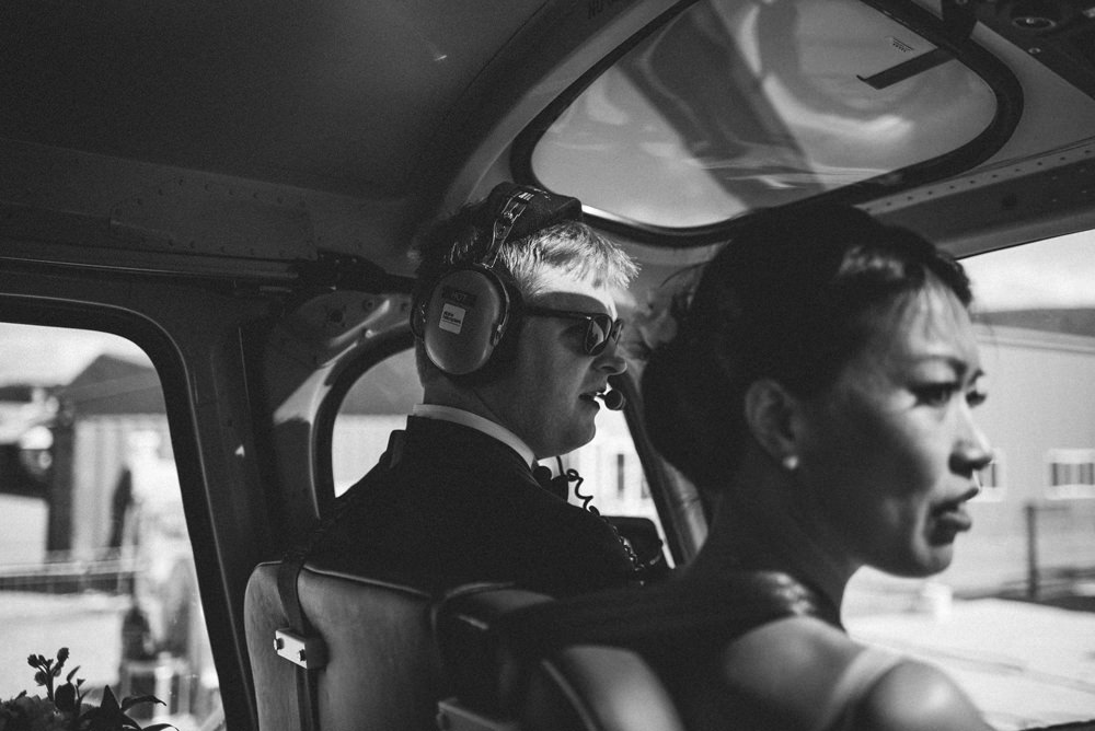 helicopter wedding new zealand
