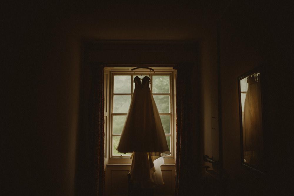 bride getting ready wedding in Scotland