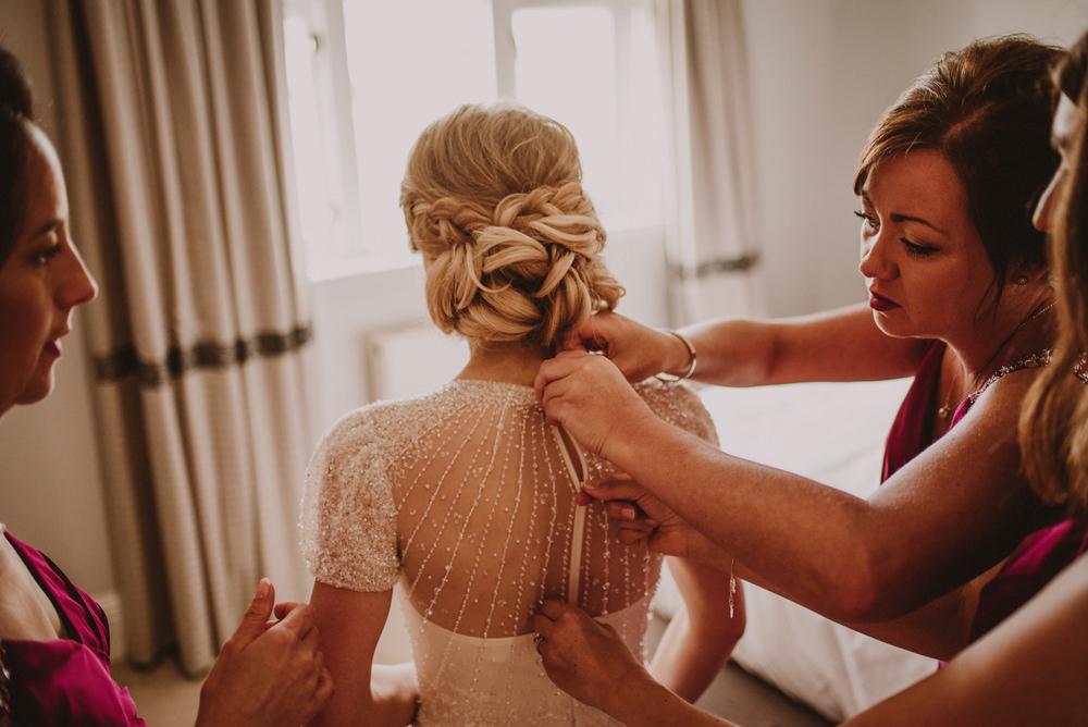 bride getting ready kinkell byre