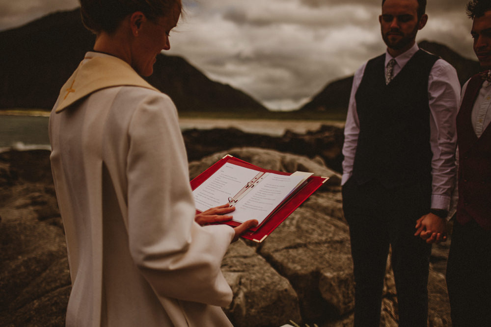 outdoor wedding in norway